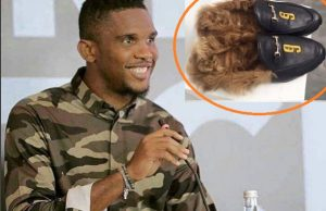 Samuel Eto'e gets Shoes by Vidal