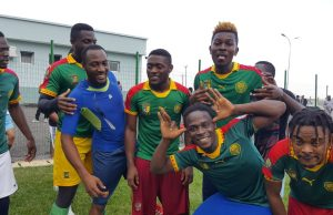 photos from Cameroon celebrity football match
