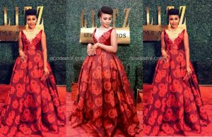syndy emade glitz style awards red carpet dress