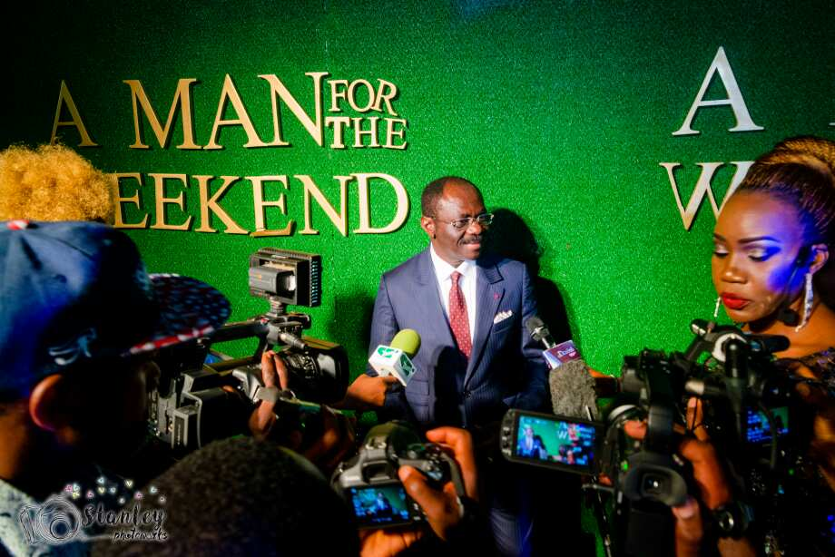 Prof. Jean Narcisse Kombi a man for the weekend premiere